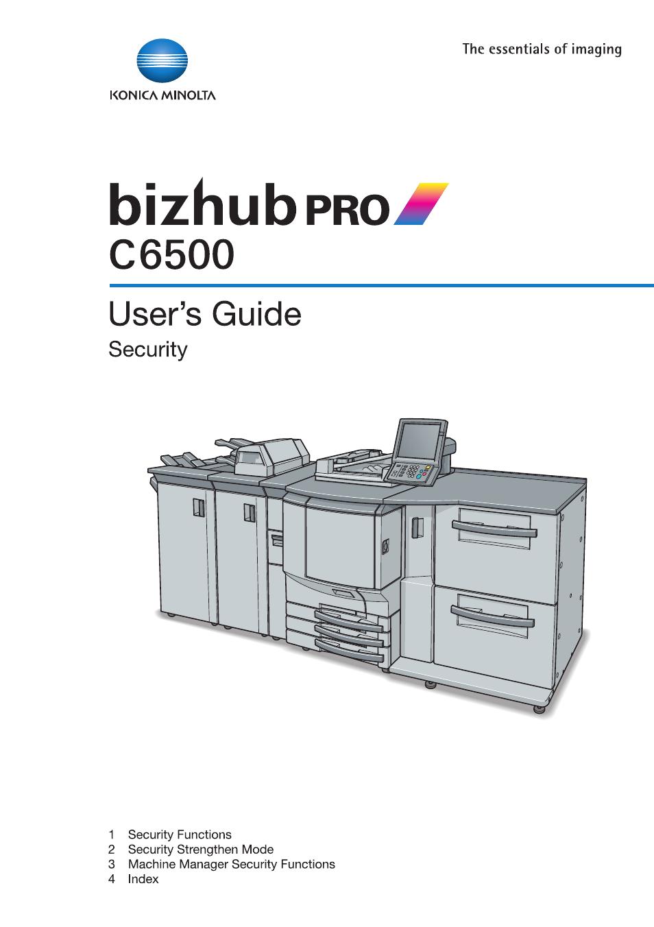 konica minolta bizhub pro c6500 user manual 32 pages rh manualsdir com Konica Minolta Bizhub C450 Konica Minolta Bizhub C550