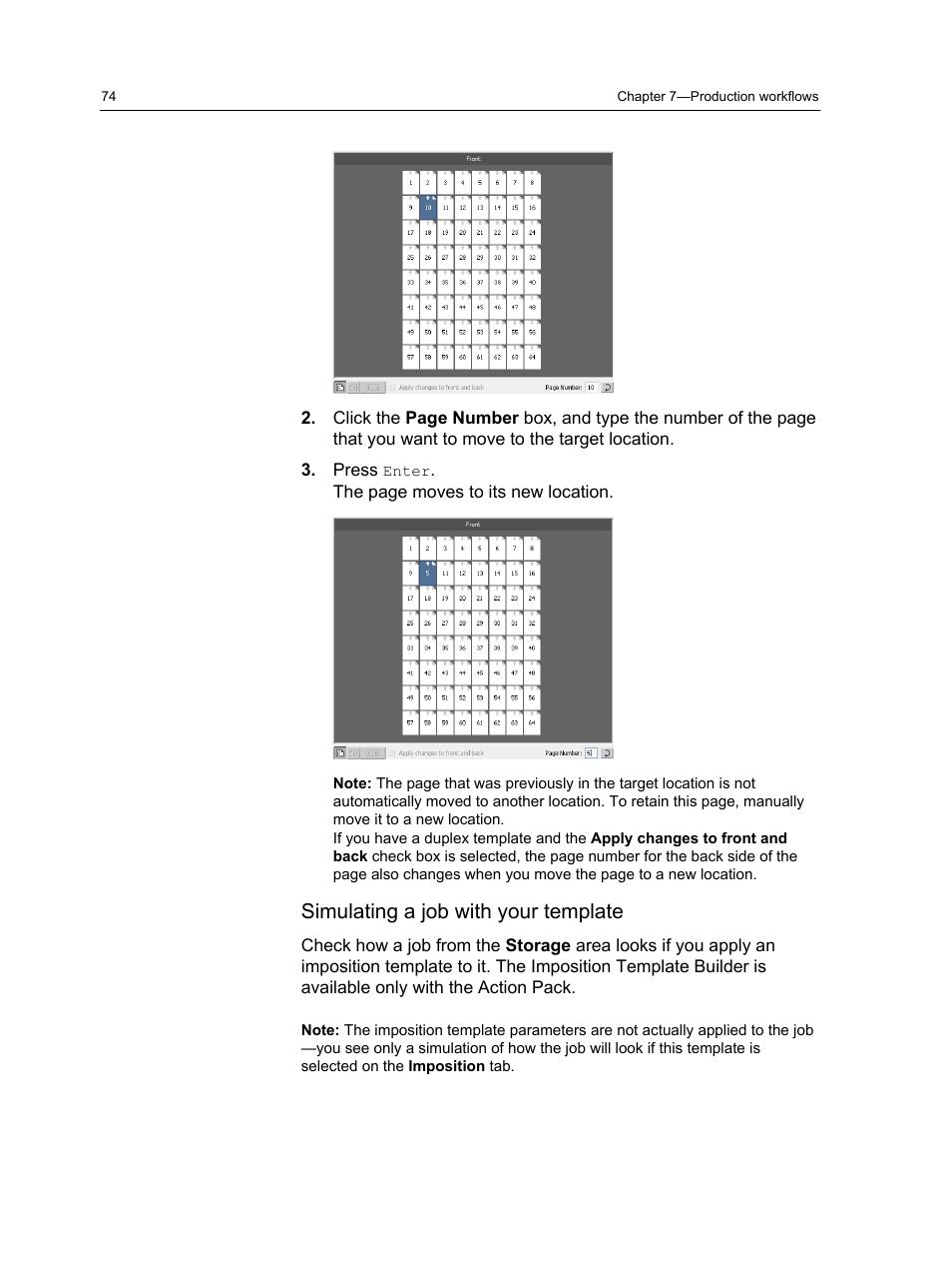 Simulating A Job With Your Template Konica Minolta Bizhub Press 1250 User Manual Page