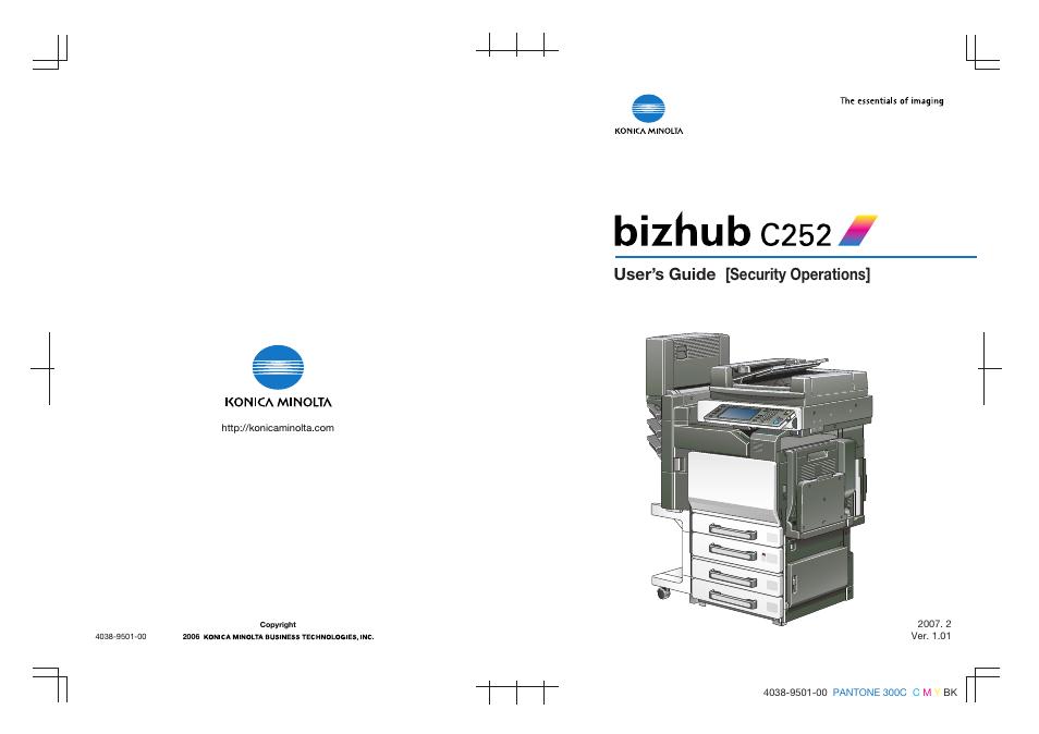 user s guide security operations konica minolta bizhub c252 user rh manualsdir com Bizhub C450 Bizhub C352
