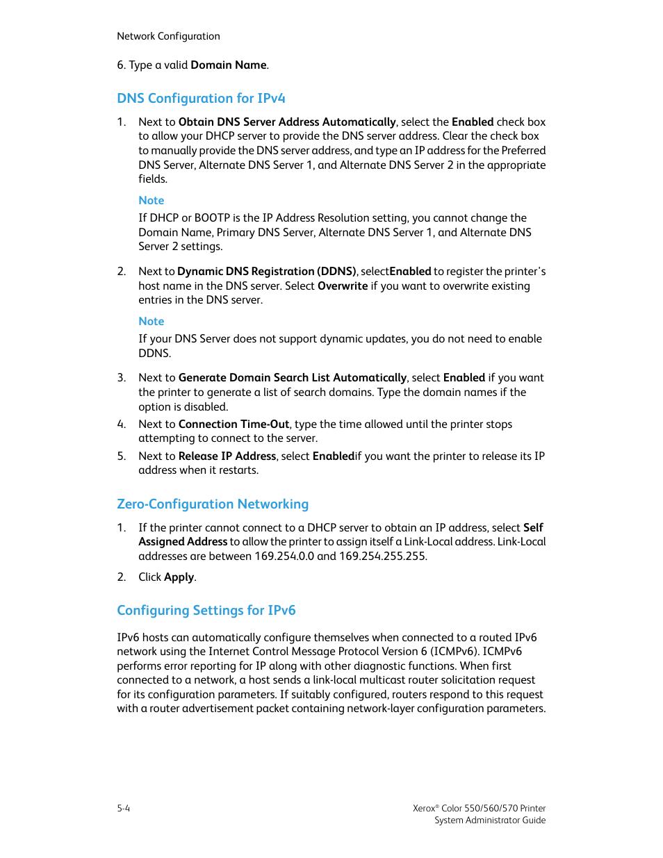 Dns configuration for ipv4, Zero-configuration networking