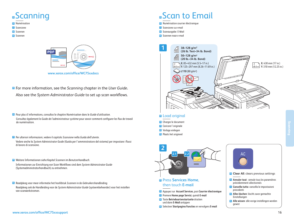 scan to email scanning num risation scansione scannen scannen rh manualsdir com xerox 7835i user manual xerox 3325 user manual