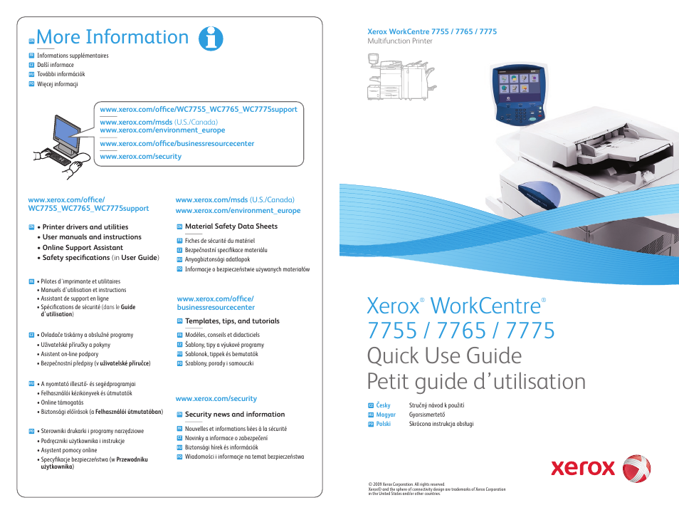 Xerox WorkCentre 7755-7765-7775 with built-in controller