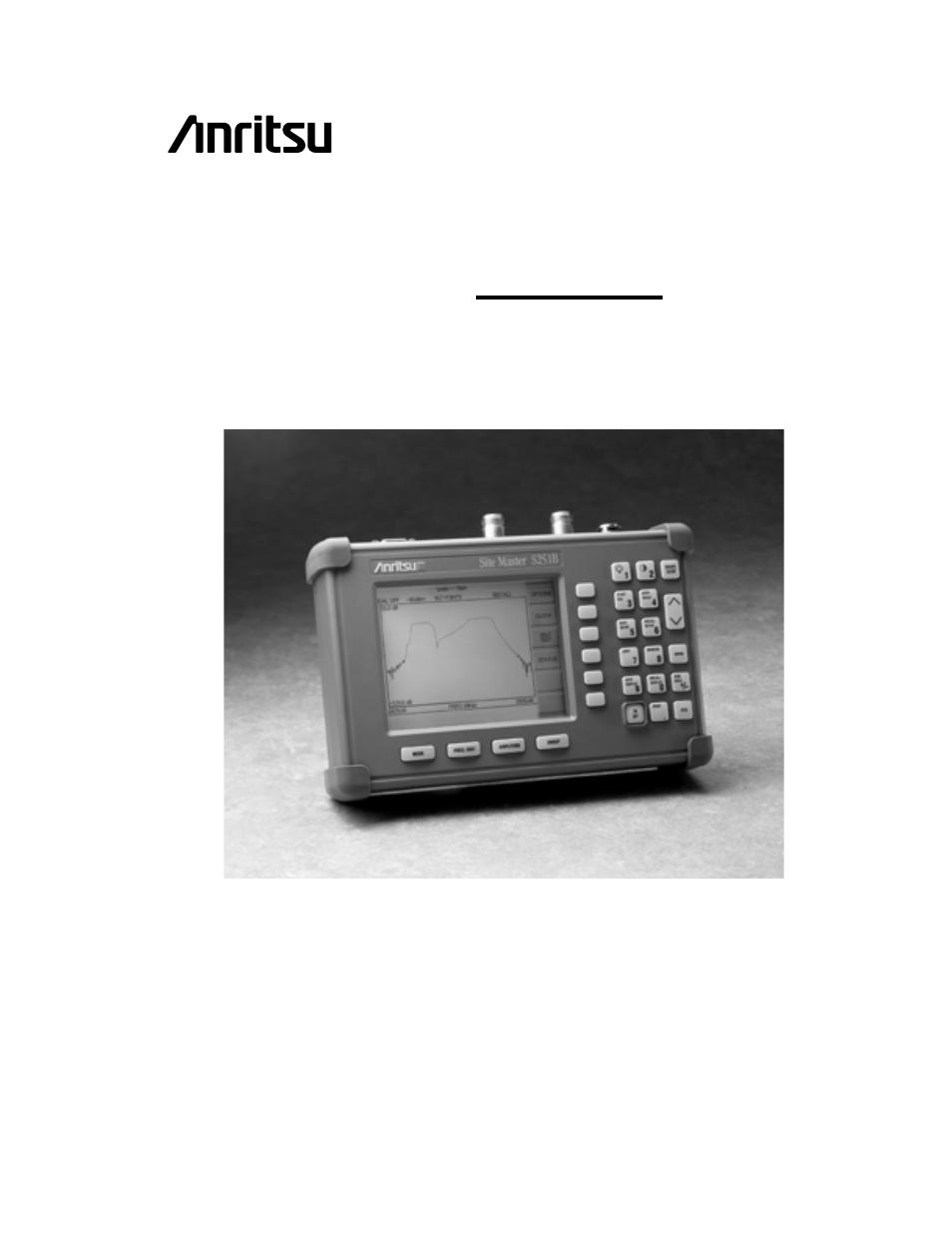 anritsu s251b user manual 84 pages rh manualsdir com Instruction Manual Example User Guide Template