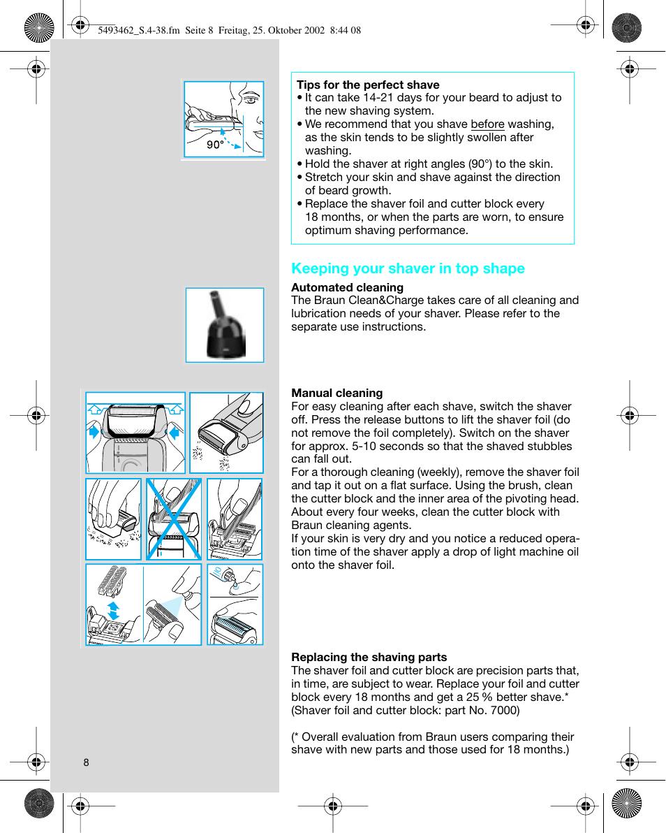 keeping your shaver in top shape braun 5493 user manual page 8 38 rh manualsdir com MK 5493 MK 5493