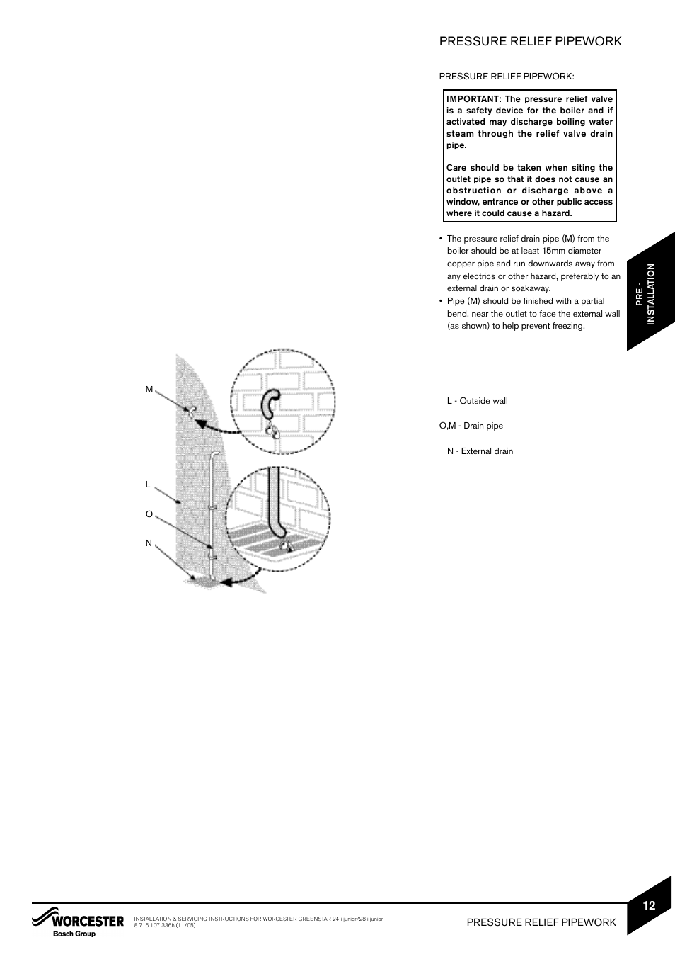 Pressure relief pipework bosch greenstar 24i junior user manual pressure relief pipework bosch greenstar 24i junior user manual page 13 62 cheapraybanclubmaster Image collections