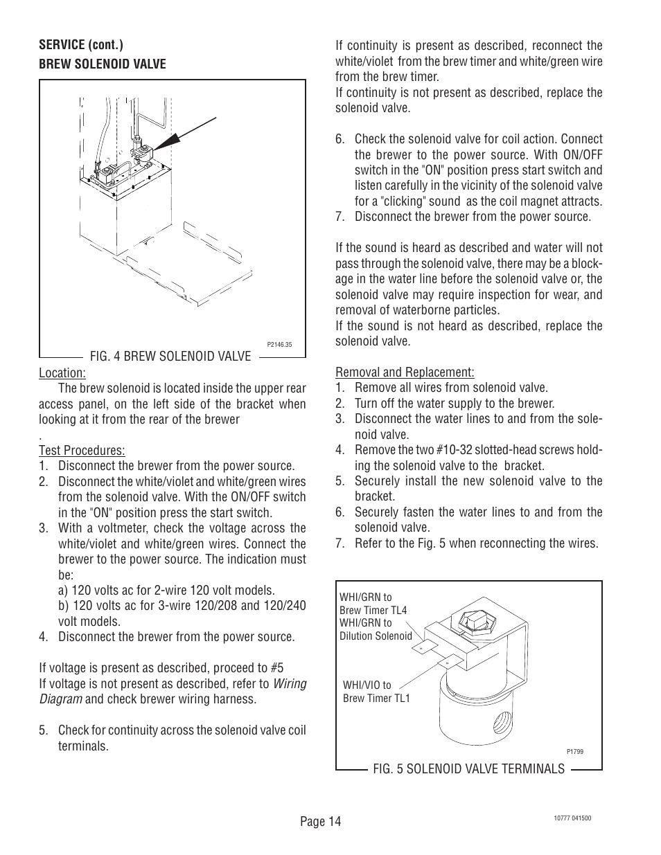 Bunn Switch Wiring Diagram Library Single Tu5q User Manual Page 14 23