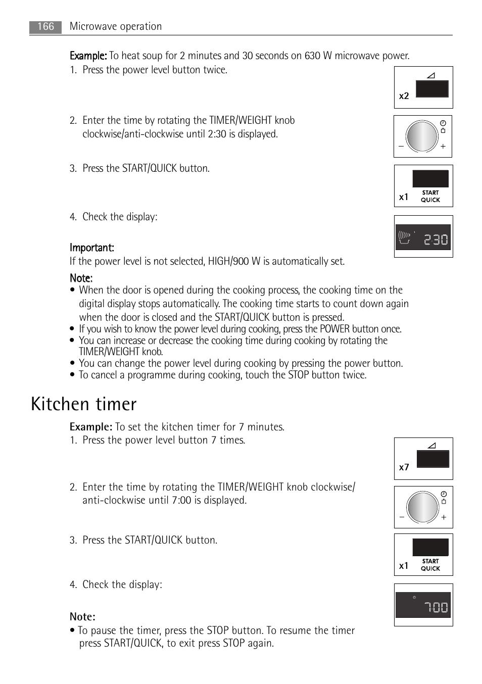 Kitchen timer, X2 x1, X7 x1   AEG MC2665E-M User Manual