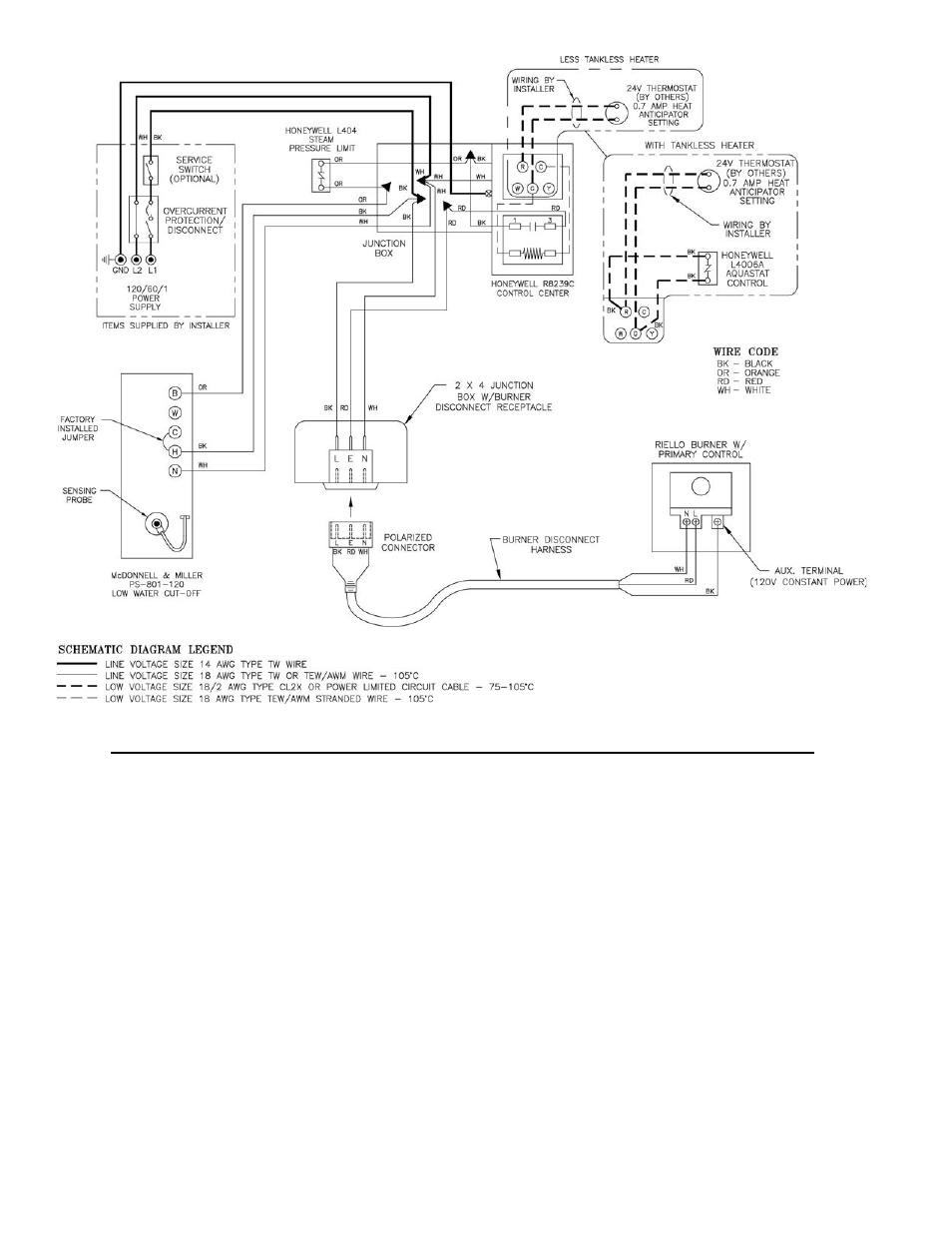 Burnham V8 Series User Manual Page 50 100 Mcdonnell Miller Wiring Diagrams