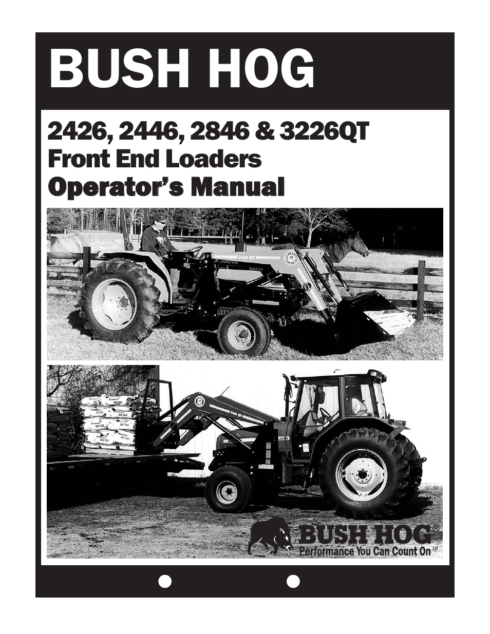 Bush Hog 2846 User Manual | 33 pages | Also for: 2426, 2446
