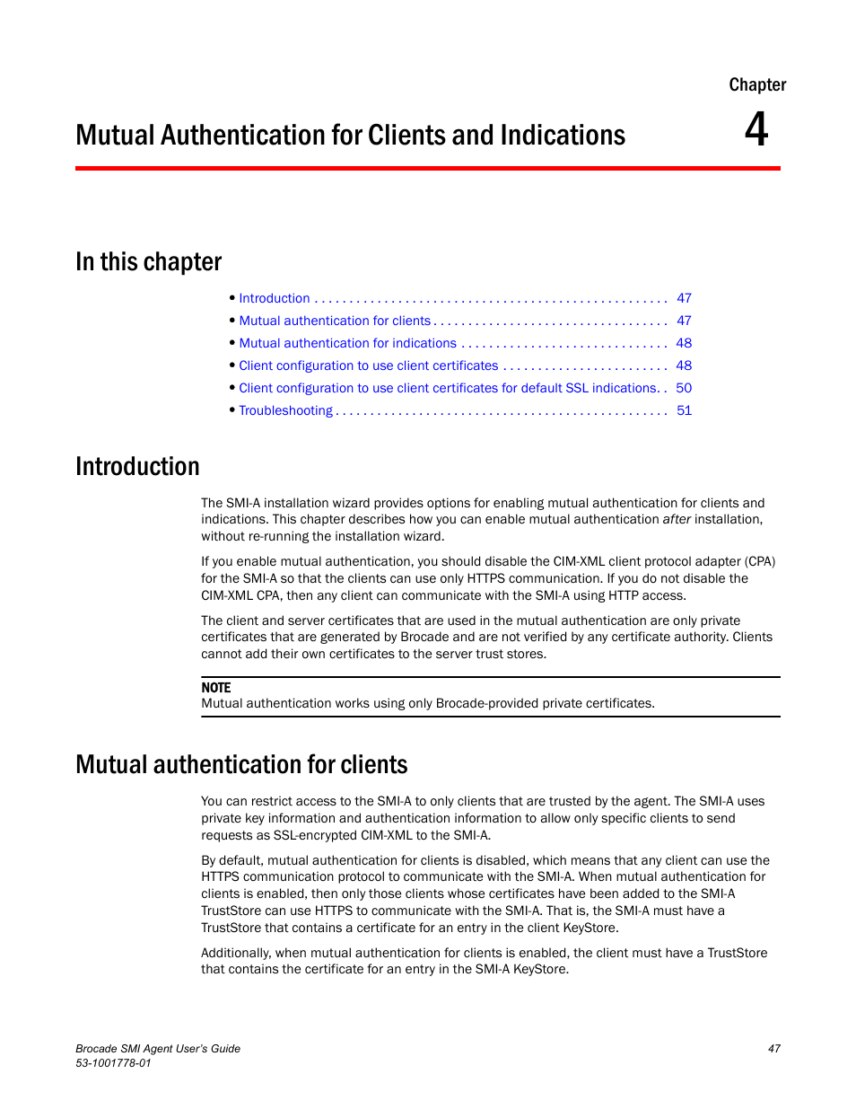 Mutual Authentication For Clients And Indications In This Chapter