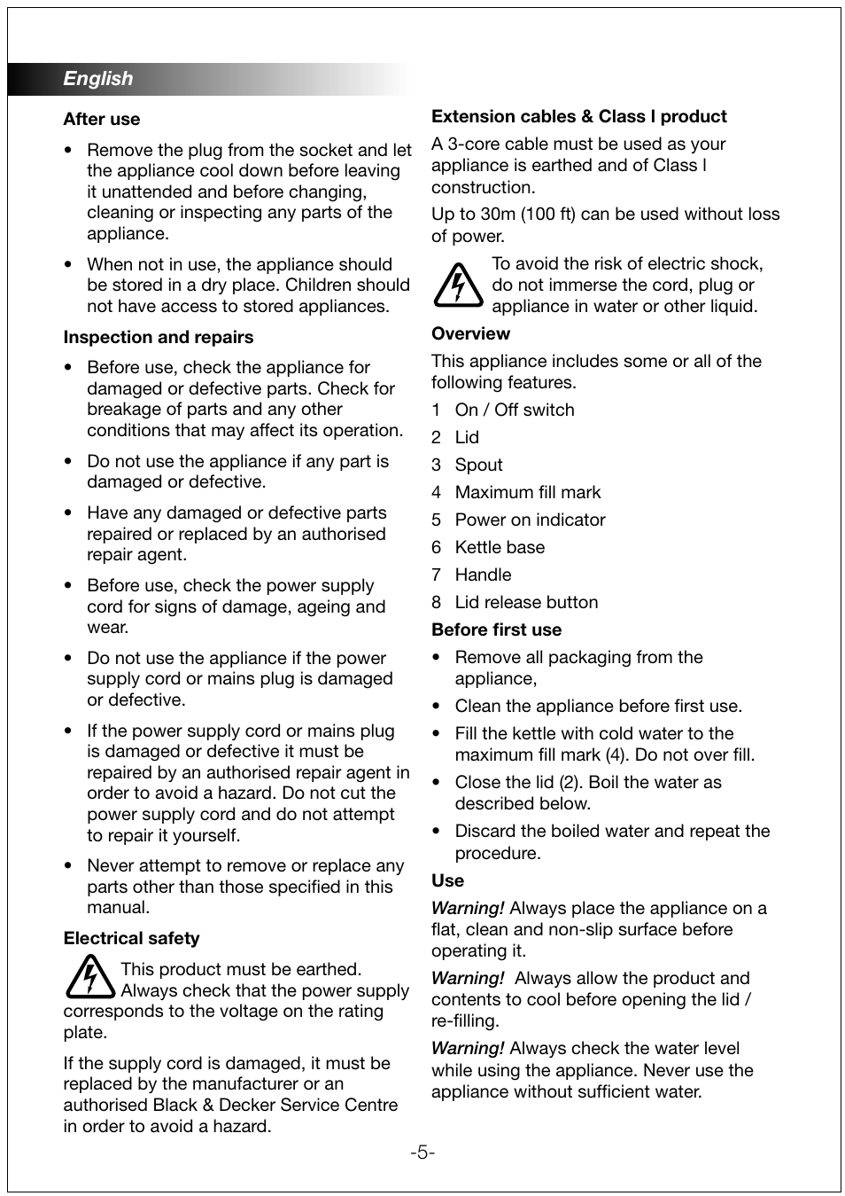 Black & Decker JC200 User Manual | Page 5 / 9 | Original mode