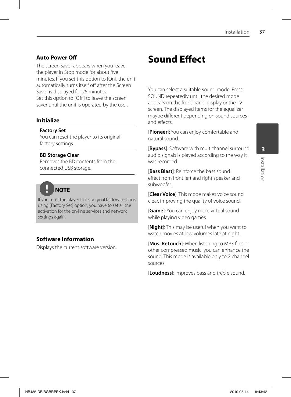 ... Array - sound eff ect pioneer bcs fs505 user manual page 37 76 rh  manualsdir com