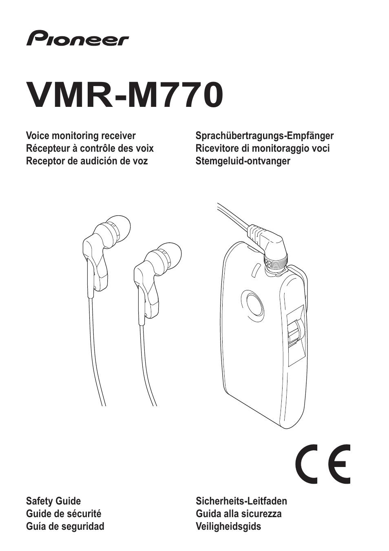pioneer vmr m770 user manual 52 pages rh manualsdir com Pioneer M 91 Pioneer Elite M 91