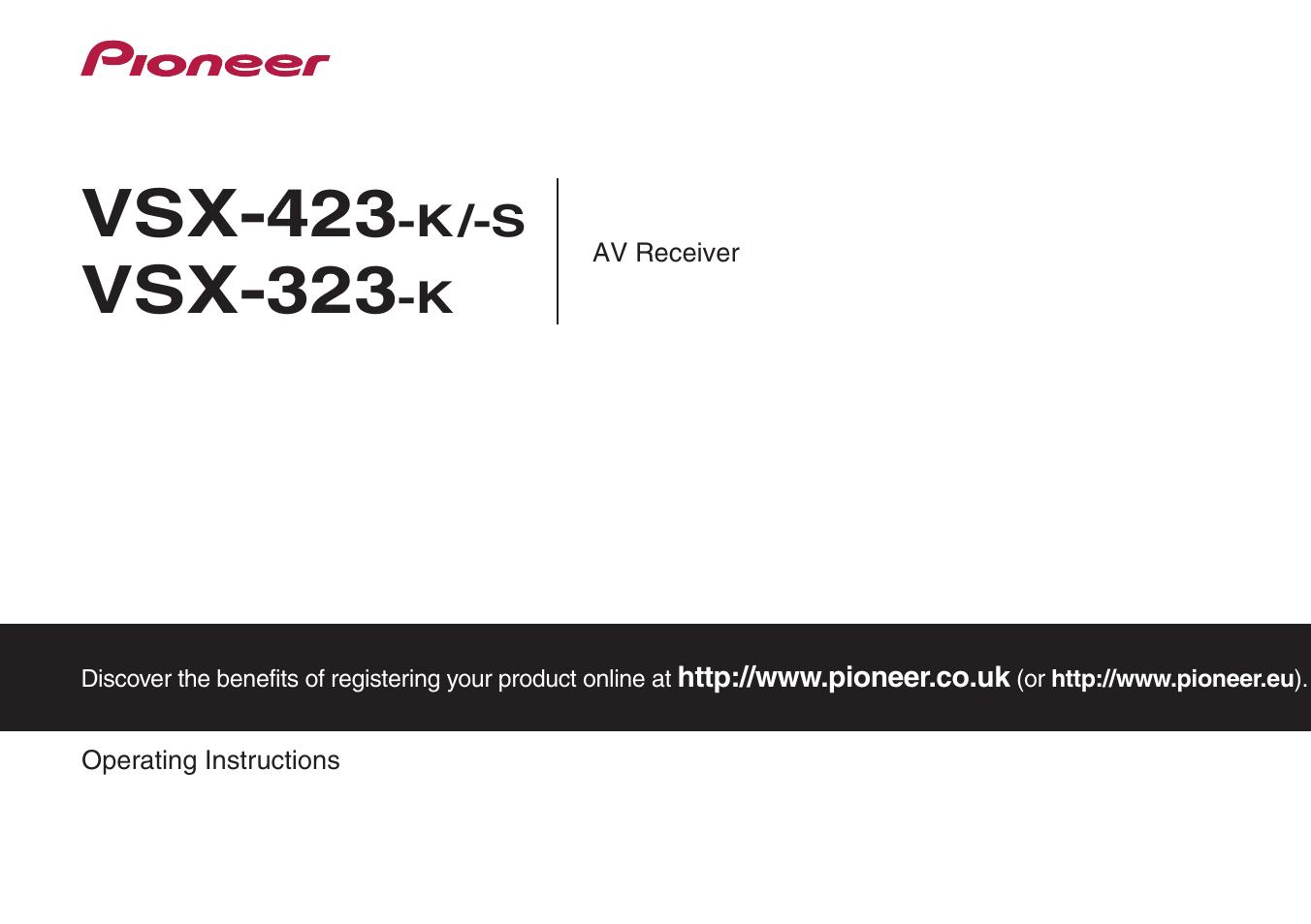 pioneer vsx 323 k инструкция