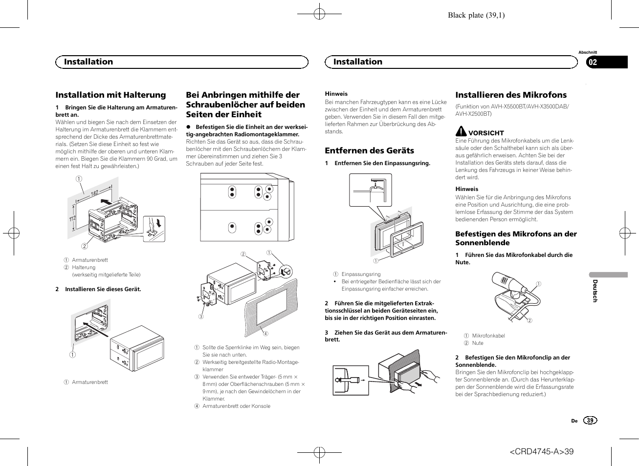 Pioneer AVH-X5500BT User Manual | Page 39 / 52