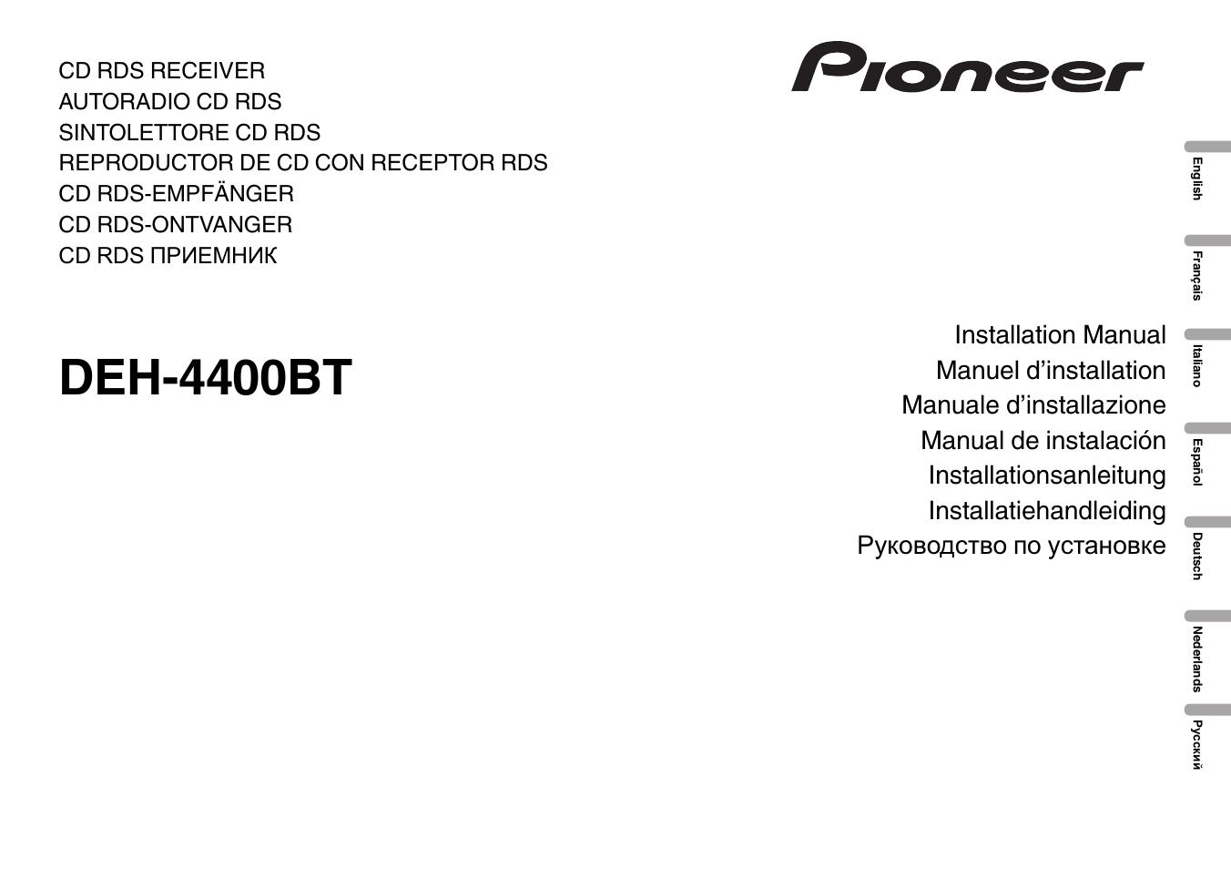 pioneer deh 4400bt user manual 32 pages rh manualsdir com Pioneer DEH- X6500BT pioneer radio manual deh-4400bt
