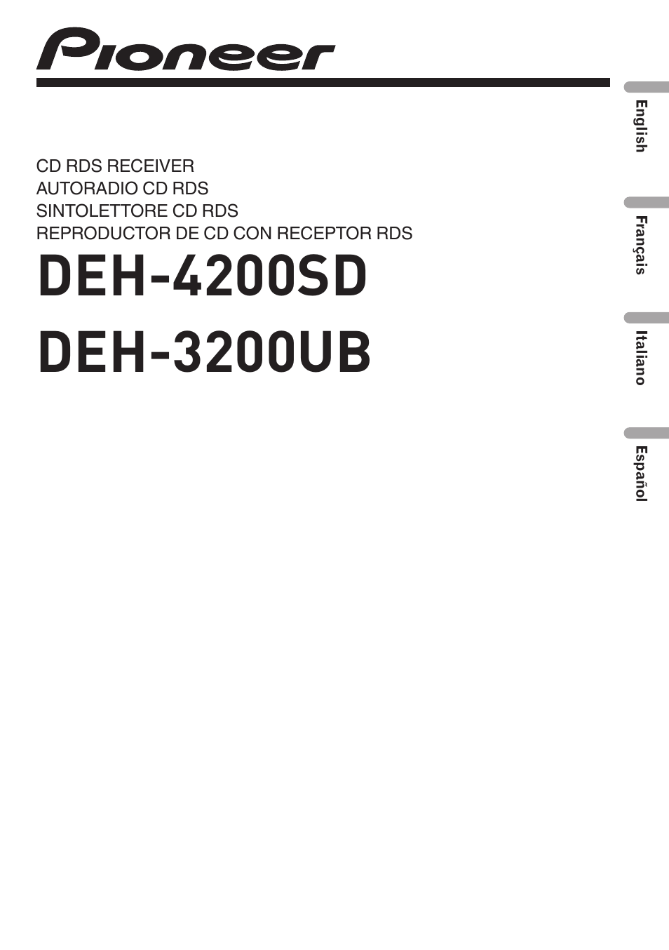pioneer deh 3200ub user manual 116 pages also for deh 4200sd rh manualsdir com pioneer deh-3200ub installation manual pioneer radio deh-3200ub manual