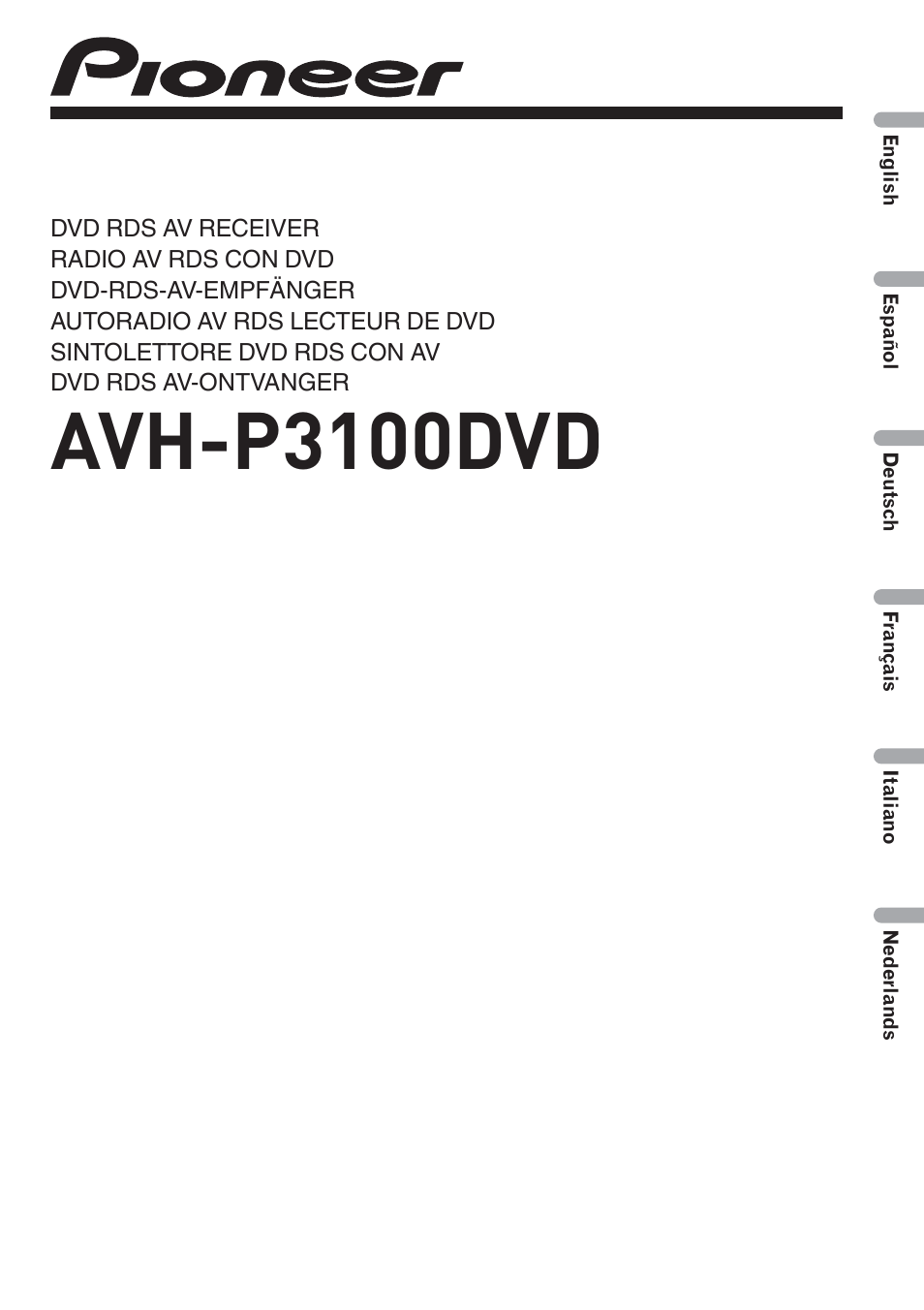 Avh P3100dvd Pioneer Manual P2300dvd Wiring Diagram User 86 Pages Rh Manualsdir Com Espaol Model