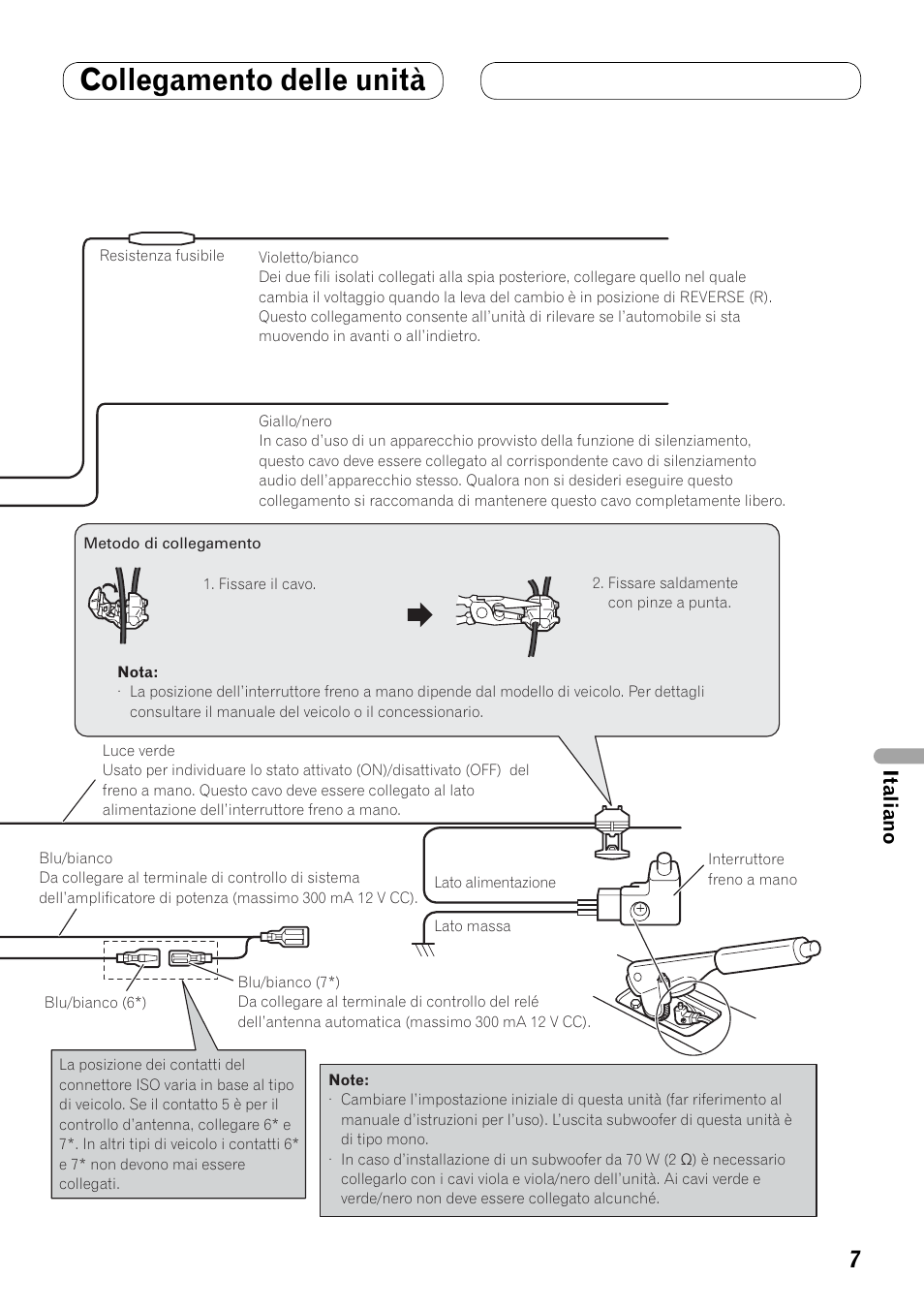 Avh P3100dvd Pioneer Manual X3500bhs Wiring Diagram Collegamento Delle Unit Italiano User Rh Manualsdir Com Navigation Manuale