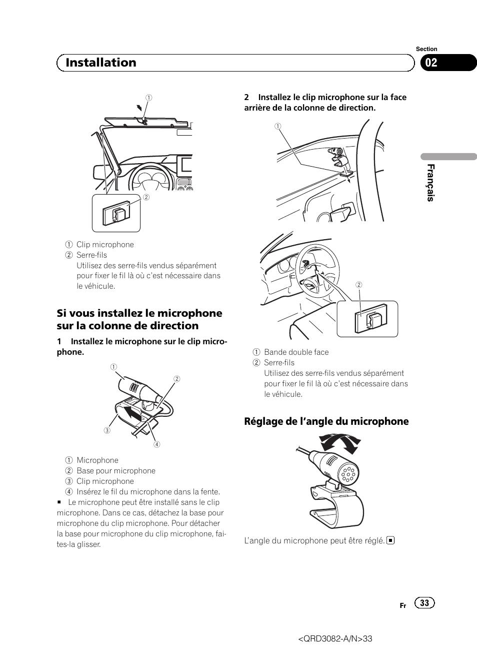 02 Installation R Glage De L 'angle Du Microphone Pioneer Avh. 02 Installation R Glage De L 'angle Du Microphone Pioneer Avh P4300dvd User Manual. Wiring. Pioneer Avh 4300 Wiring Diagram At Scoala.co