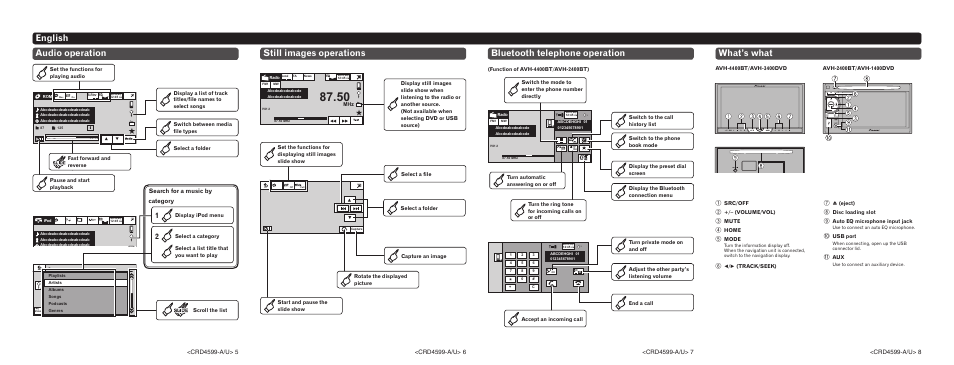 audio operation pioneer avh 2400bt user manual page 2 8 rh manualsdir com Pioneer AVH- P2400BT Wiring-Diagram Pioneer AVH- 3200BT