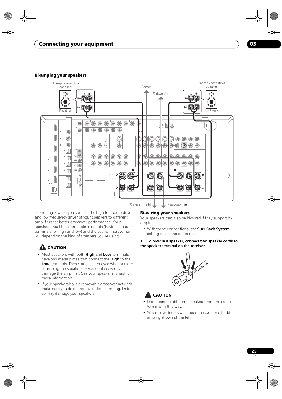 Bi Amping Your Speakers Wiring Connecting Subwoofer On Speaker Amplifier And Home Cinema Equipment 03 Pioneer Sc Lx82 User Manual Page 25 148