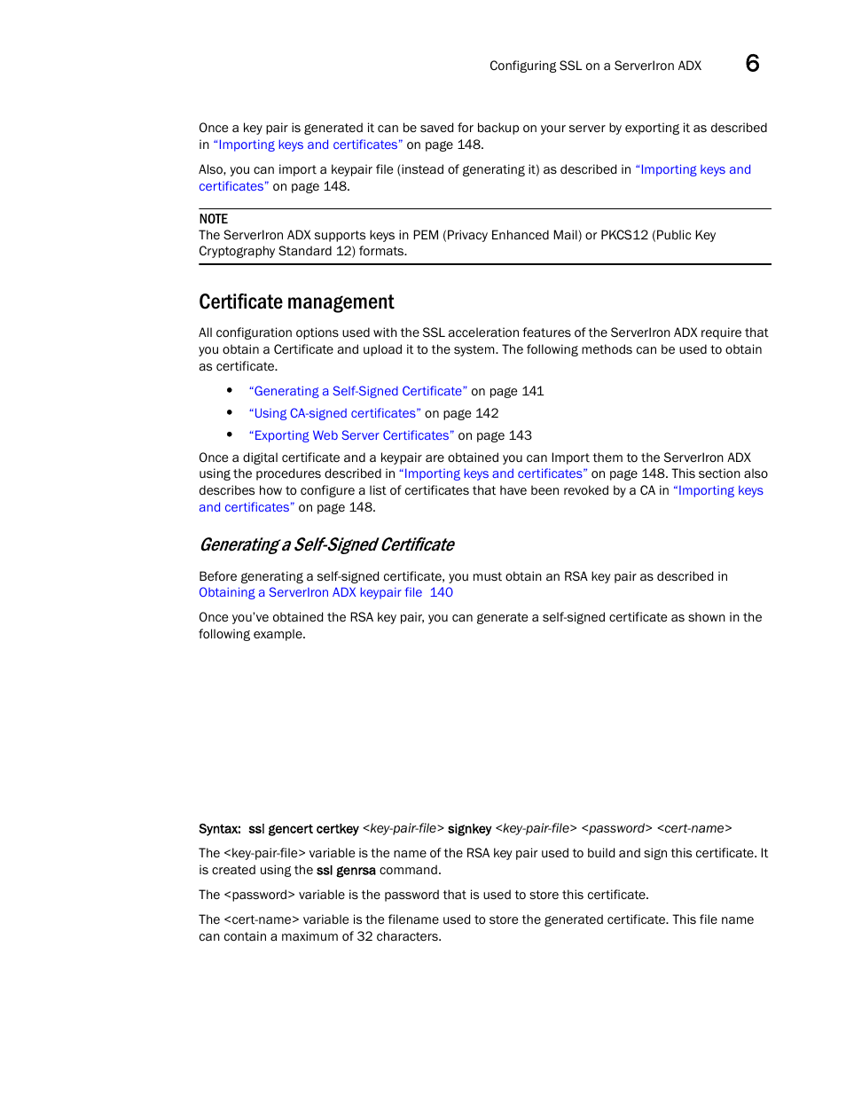 Certificate management, Generating a self-signed certificate