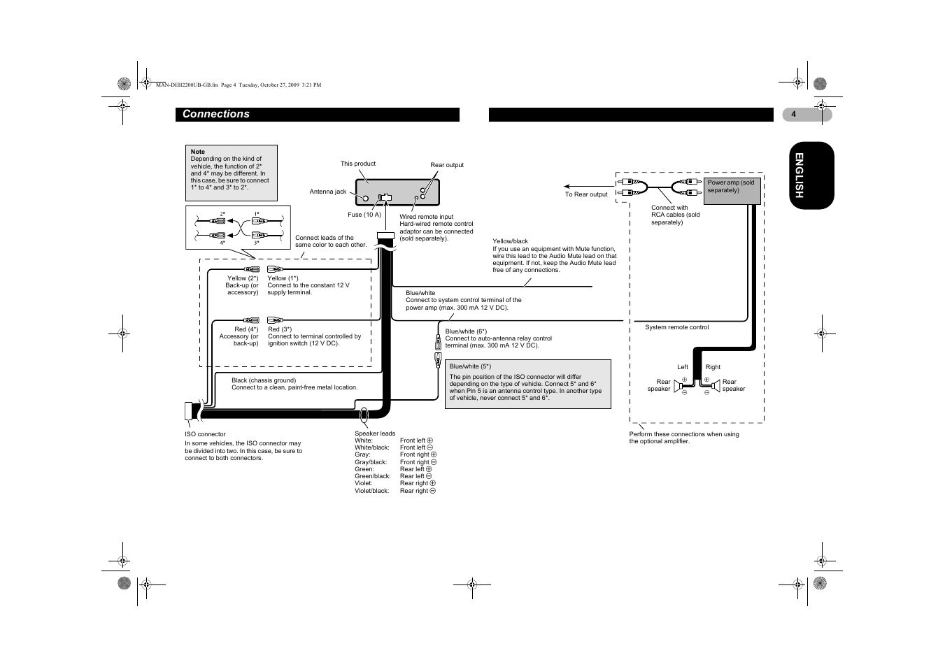 wiring diagram for pioneer deh 6400bt pioneer audio wiring