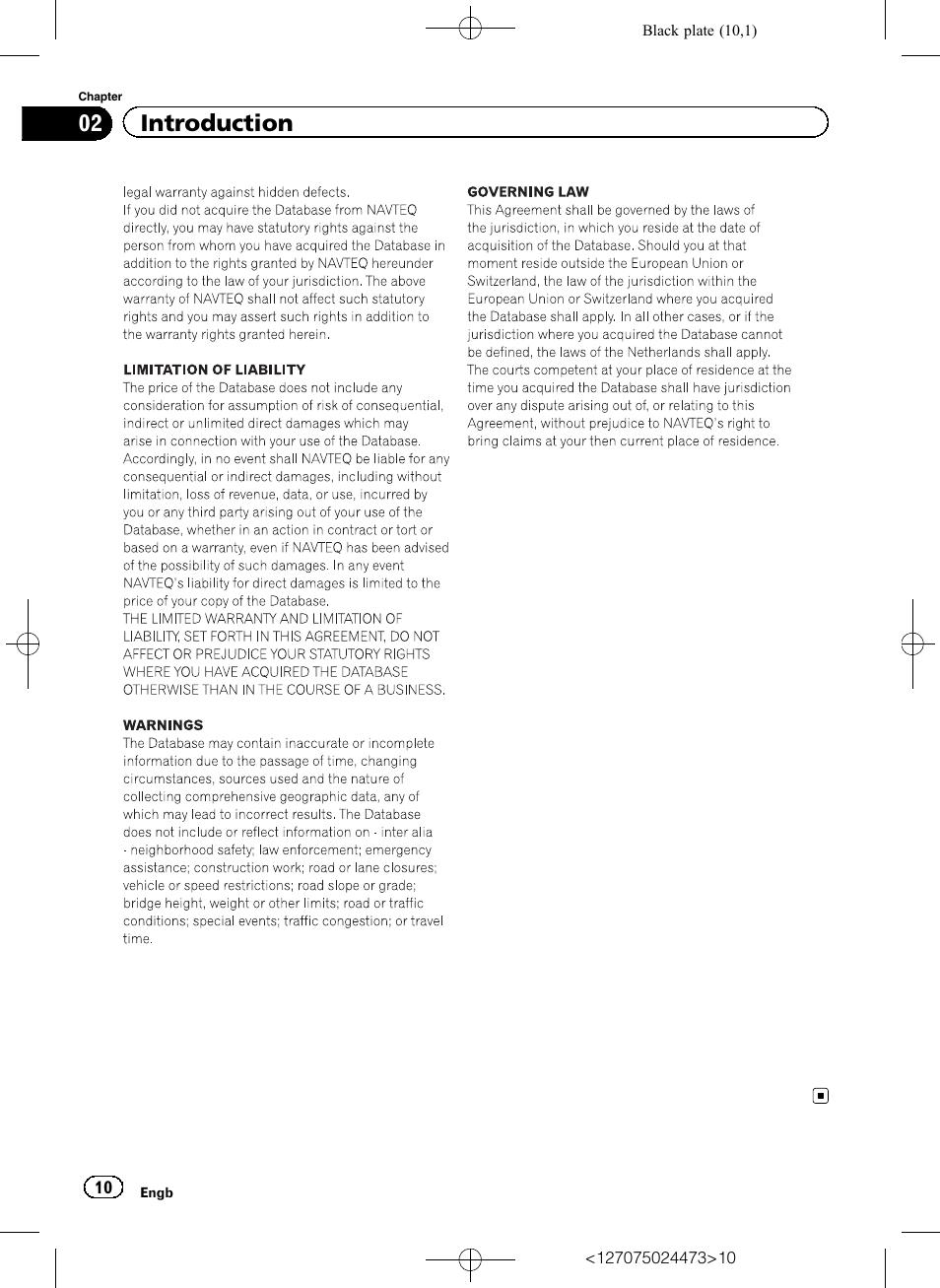 02 introduction pioneer avic f250 user manual page 10 76 rh manualsdir com NAVTEQ Update NAVTEQ Maps