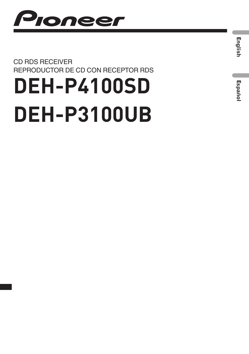 Pioneer Deh P3100ub User Manual Wiring Harness Diagram 127 Pages Also For P4100sd Rh Manualsdir Com 3100ub To A Jetta Mk4