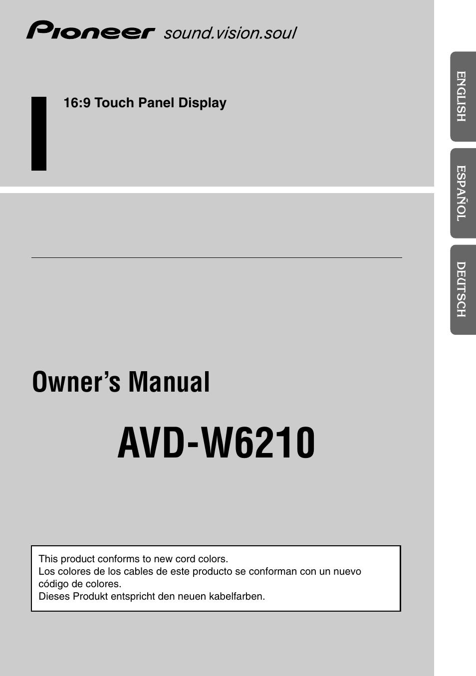 pioneer avd w6210 user manual 112 pages rh manualsdir com