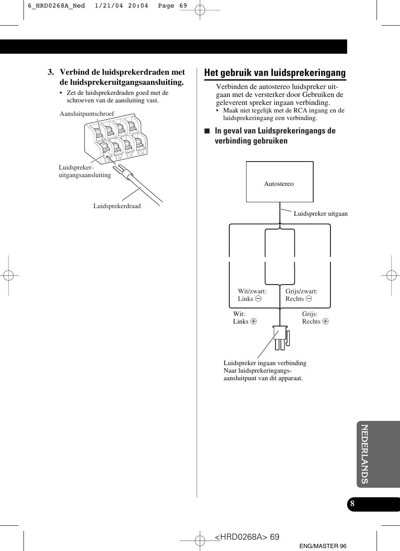 het gebruik van luidsprekeringang pioneer gm 4000f user manual rh manualsdir com