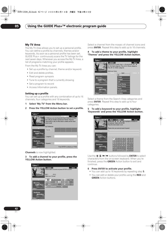 using the guide plus electronic program guide 05 pioneer dvr rh manualsdir com 4 Channel DVR Manual Honeywell DVR Manual