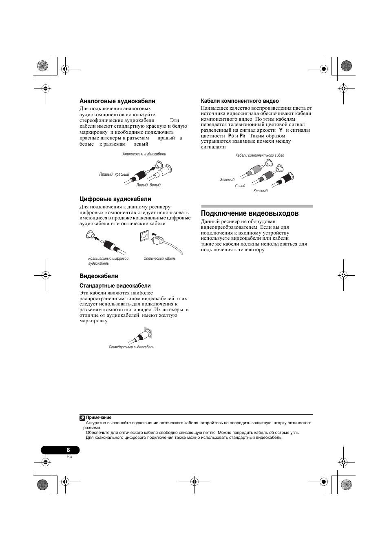 инструкция пионер vsx 519v в pdf