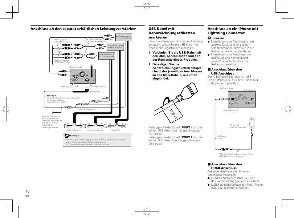Usb-kabel mit kennzeichnungsetiketten markieren, Anschluss an ein ...