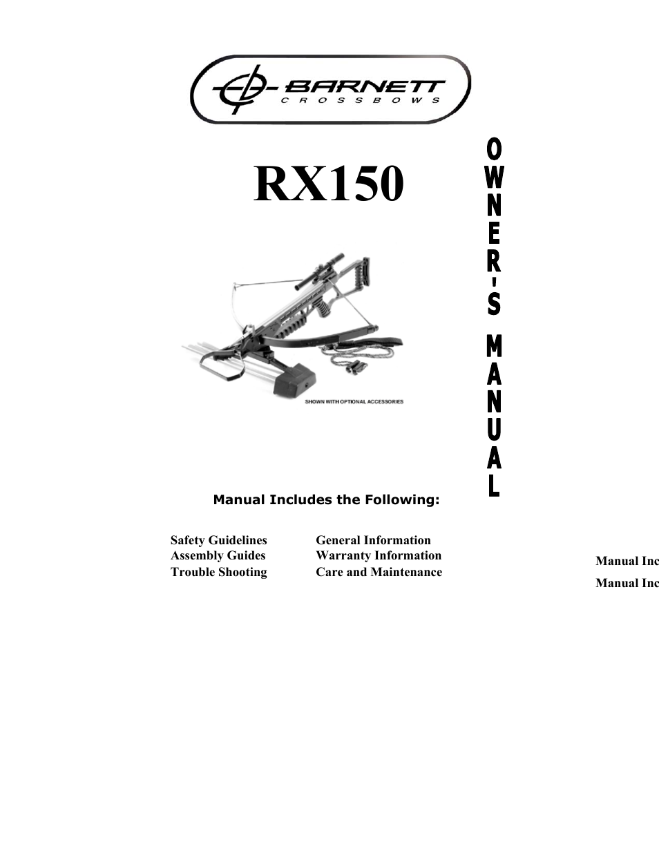 barnett engineering rx150 user manual 16 pages rh manualsdir com User Training Kindle Fire User Guide