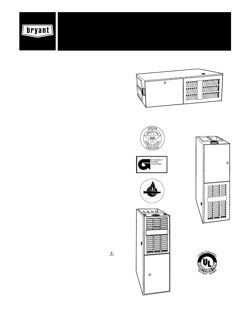 Bryant 395CAV User Manual 12 pages