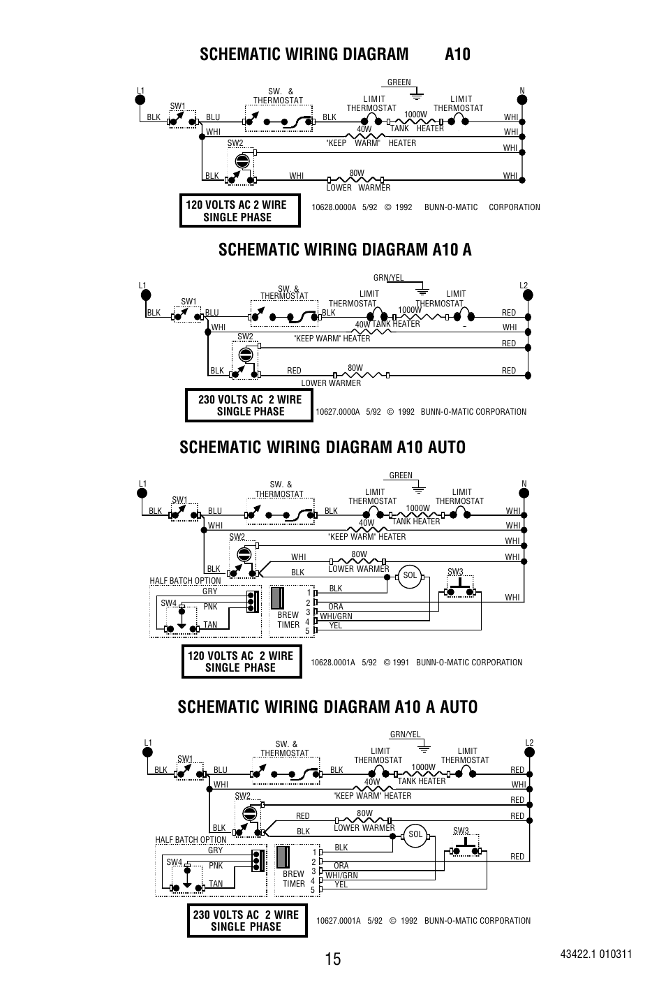 Bunn Wiring Diagram Schematic Name Home To Light Switch A10 A Auto