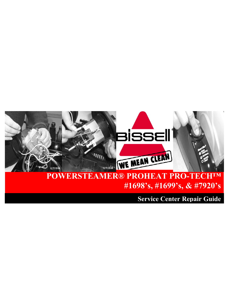 bissell proheat pro tech instruction manual