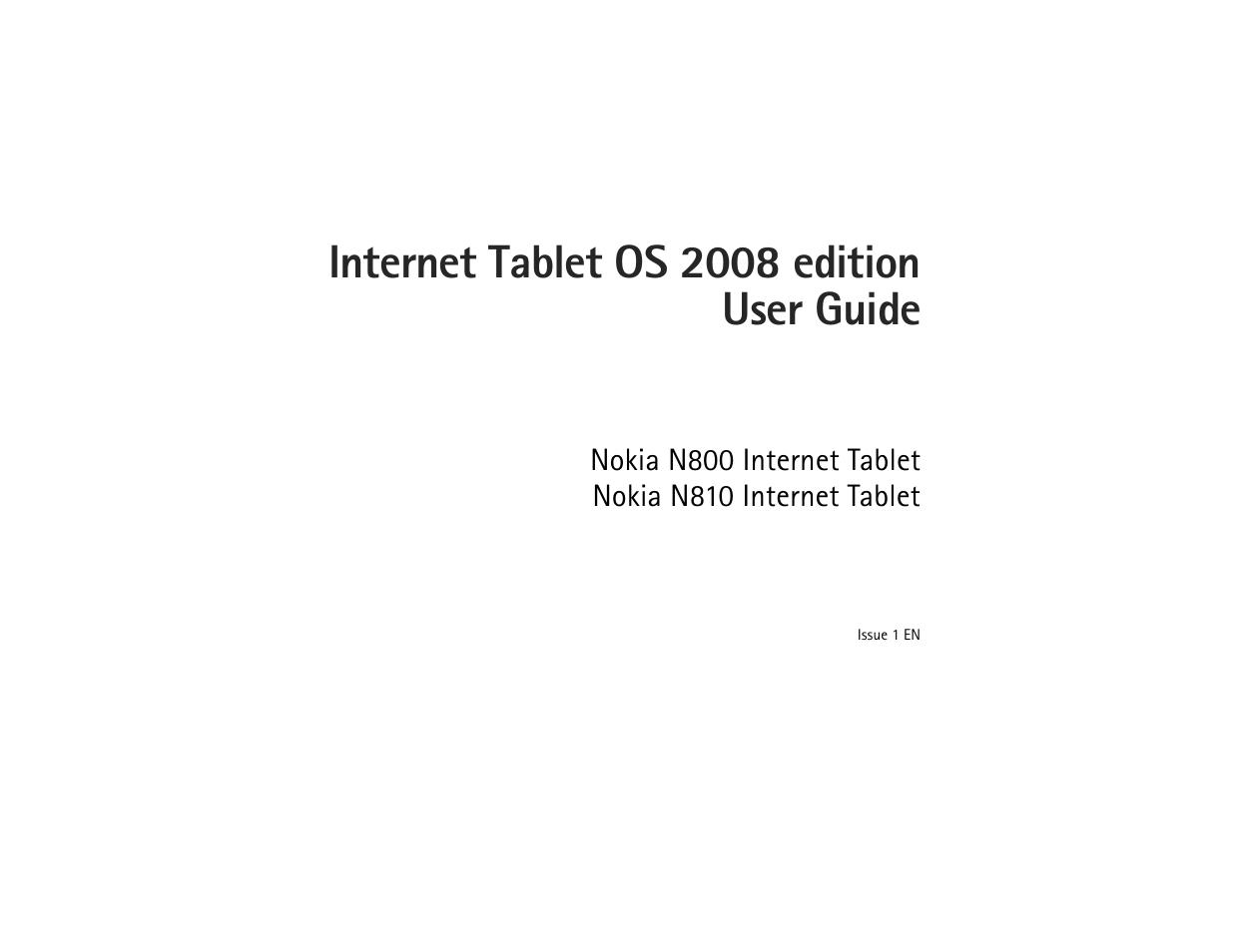 nokia n810 user manual 52 pages rh manualsdir com Nokia N810 Review Nokia Internet Tablet