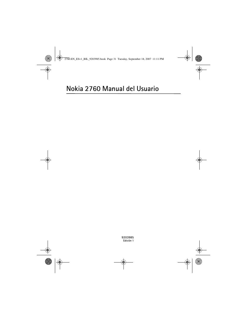 nokia 2760 manual del usuario nokia 2760 user manual page 32 rh manualsdir com Nokia 3310 Nokia 3310