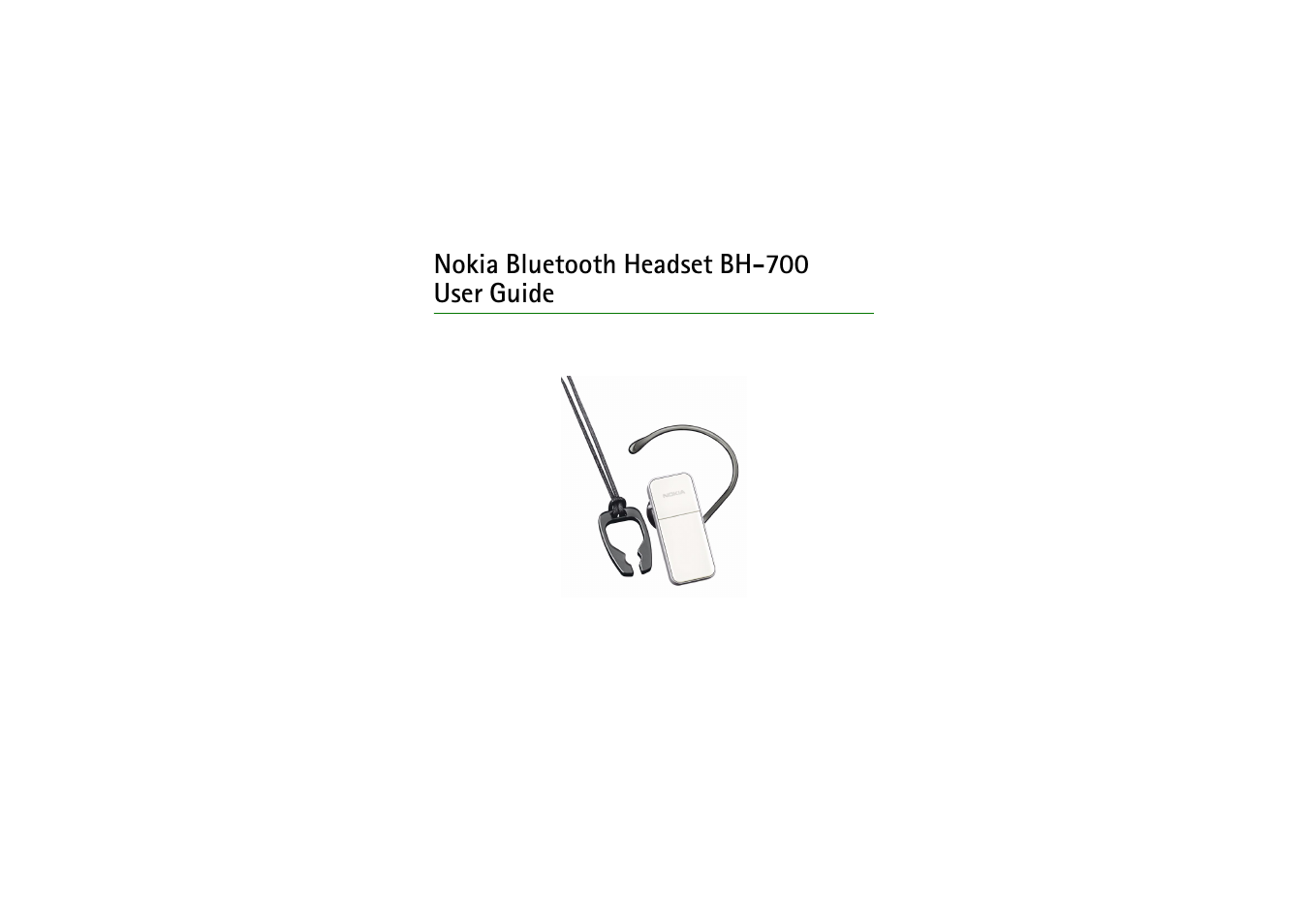 nokia bluetooth headset bh 700 user manual 17 pages rh manualsdir com Nokia NFC Accessories Nokia Bluetooth Manual