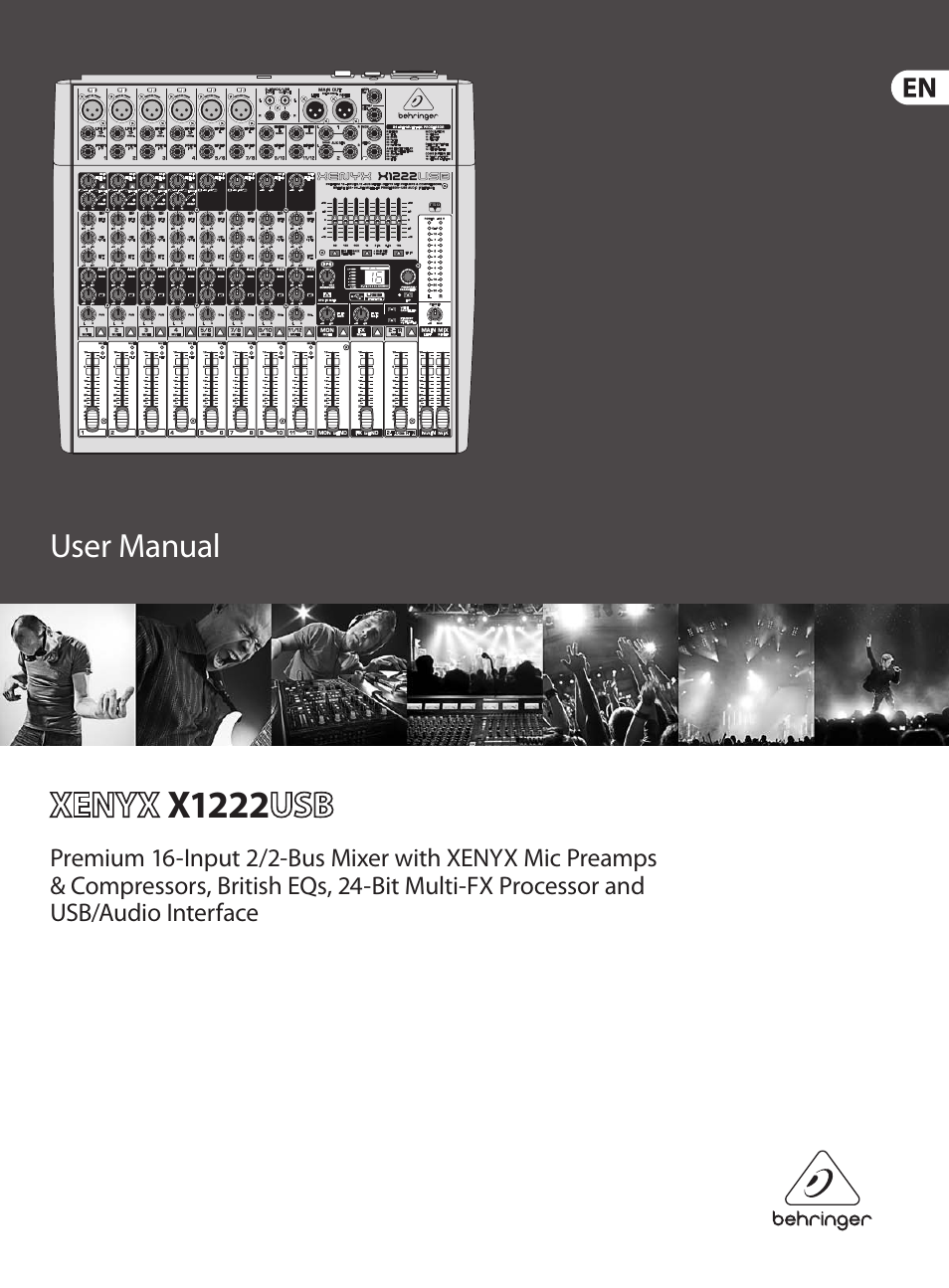 behringer xenyx usb x1222 user manual 16 pages rh manualsdir com behringer p1 user manual behringer dcx2496 user manual