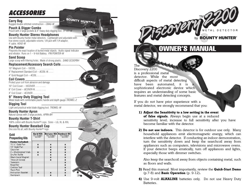 bounty hunter discovery 2200 user manual 10 pages rh manualsdir com Boba Fett Real Bounty Hunters