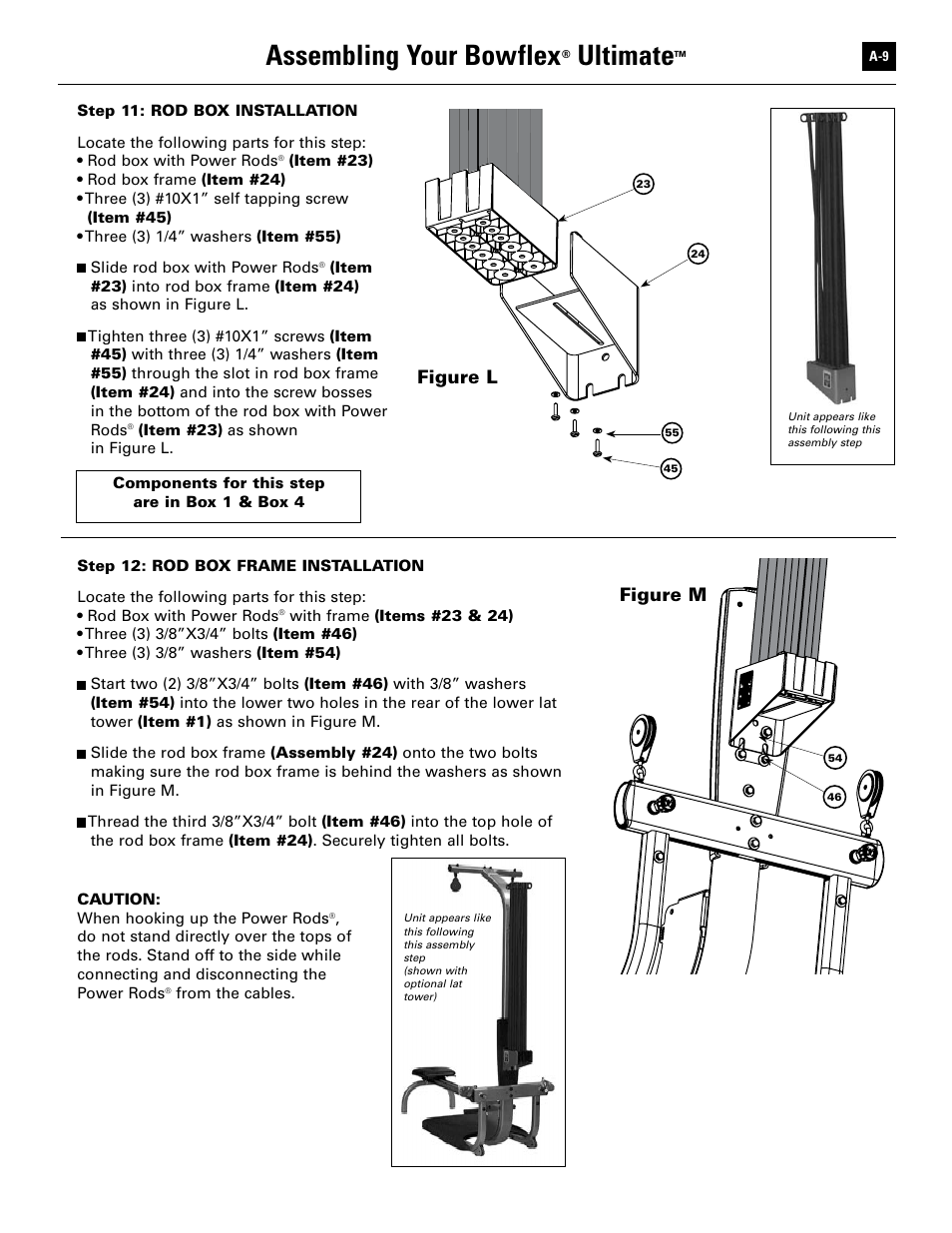 assembling your bowflex ultimate figure l bowflex ultimate user rh manualsdir com Bowflex Adjustable Dumbbells Bowflex SelectTech Adjustable Bench Series 3 1