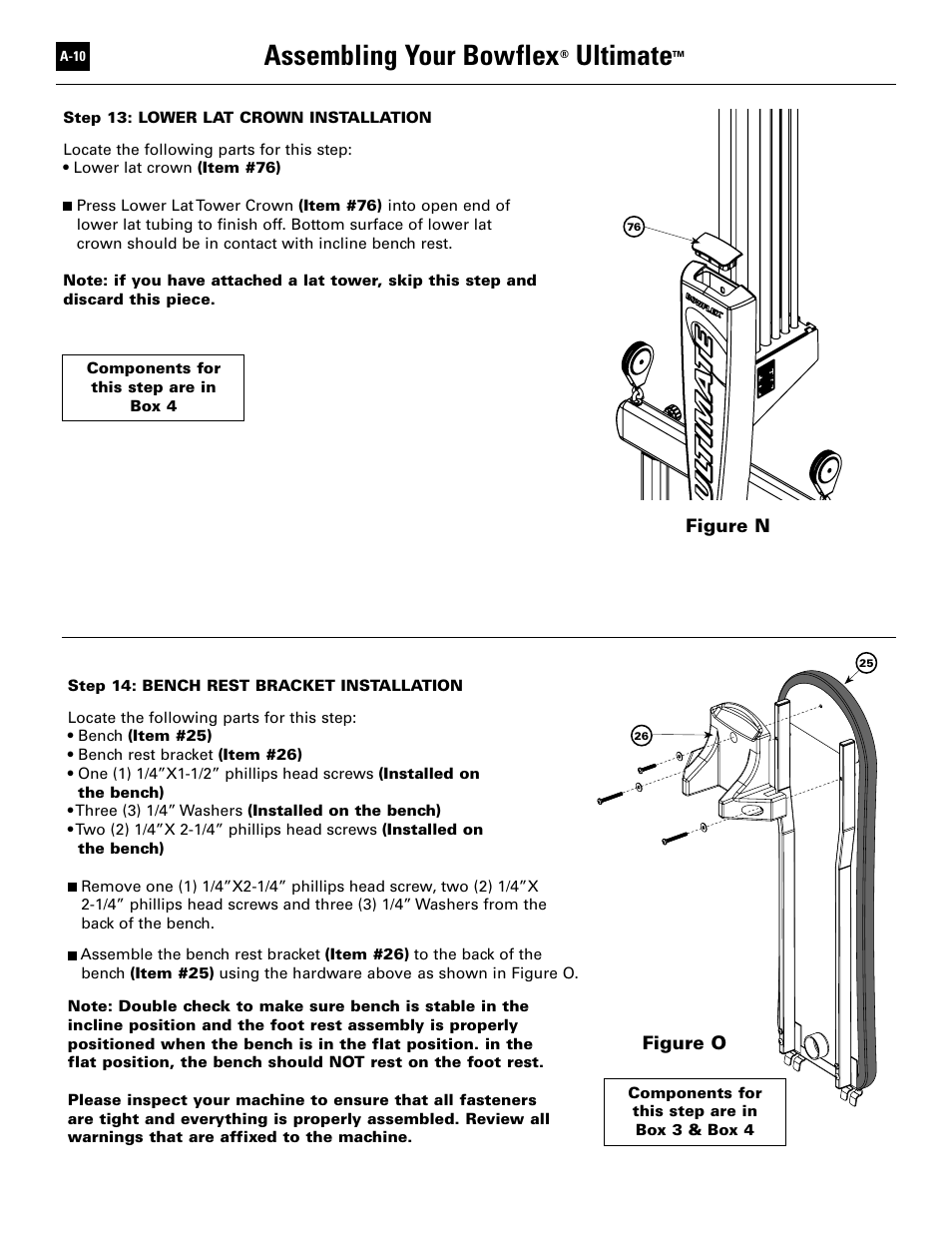 assembling your bowflex ultimate bowflex ultimate user manual rh manualsdir com Bowflex Adjustable Dumbbells Bowflex SelectTech Adjustable Bench Series 3 1