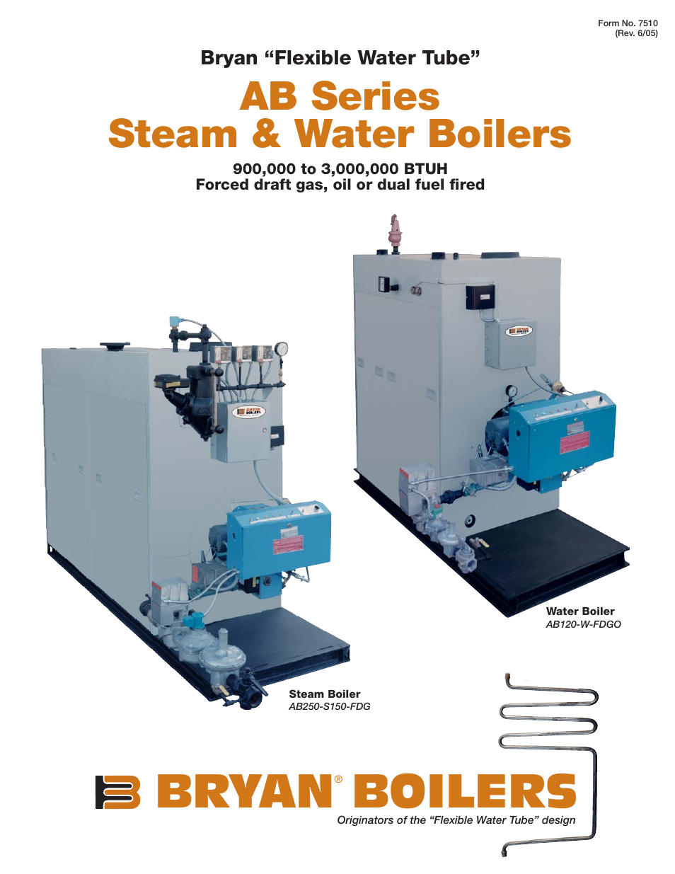 Bryan Boilers AB250-S150-FDG User Manual | 4 pages | Also for: AB120 ...