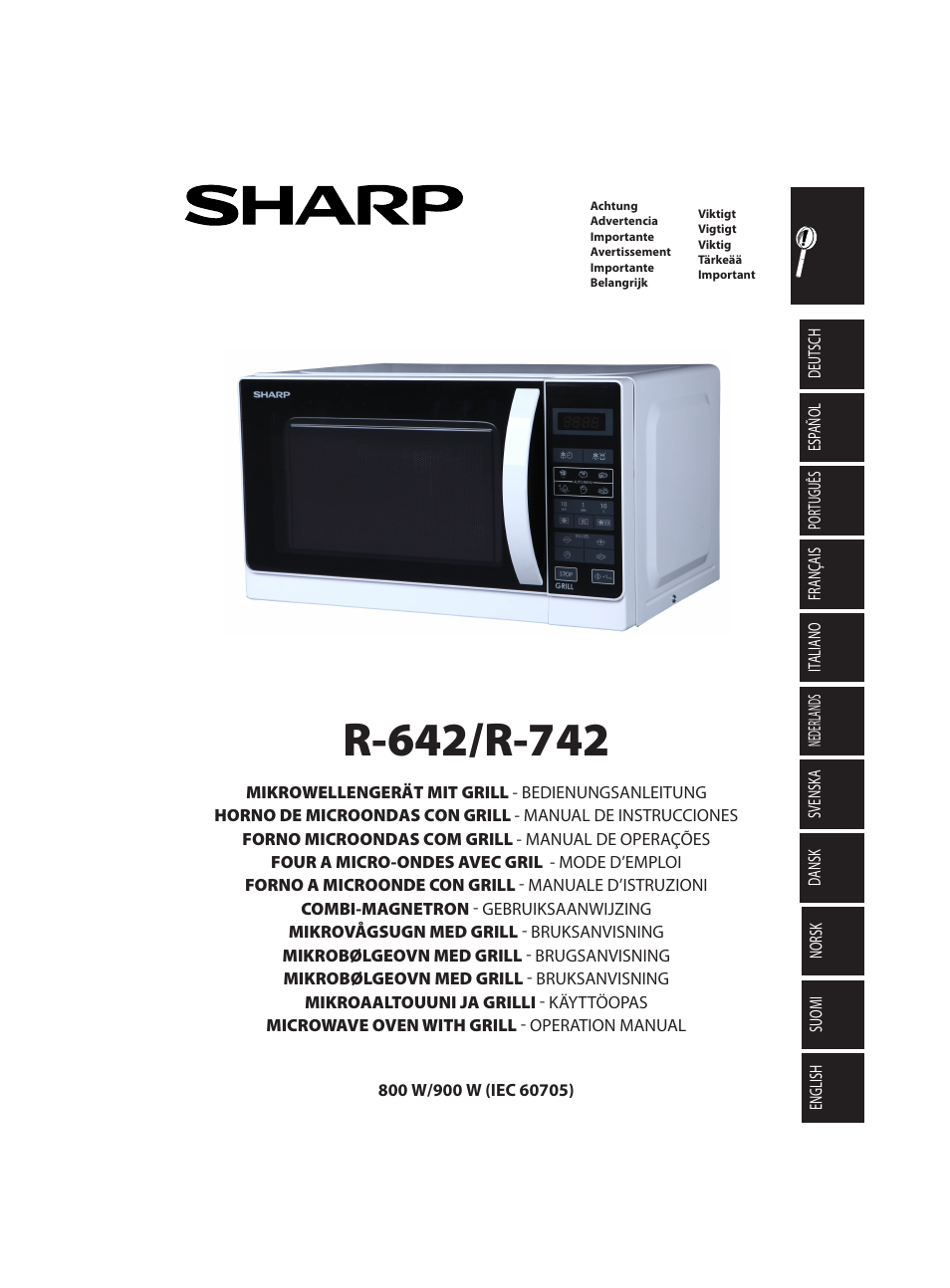 Sharp R 642bkw User Manual 180 Pages Also For 642inw 742inw 642ww
