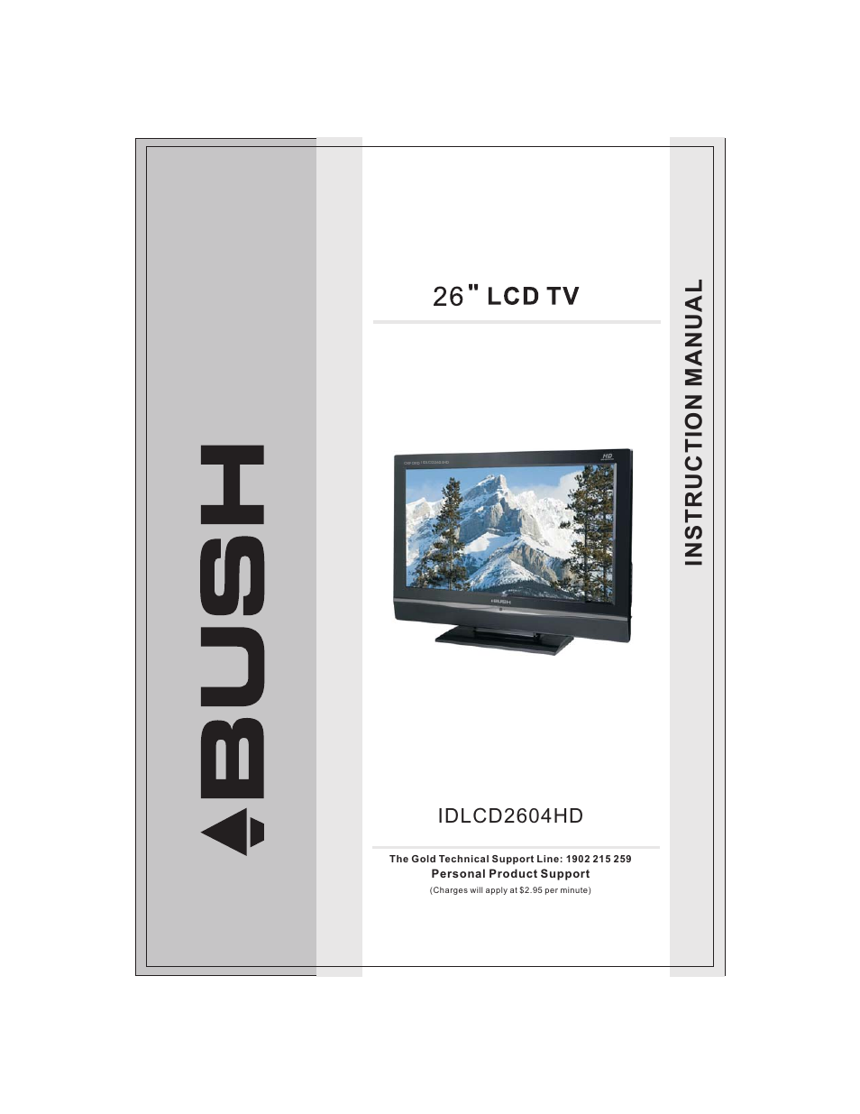 bush 26 lcd tv idlcd2604hd user manual 24 pages rh manualsdir com bush tv manual buttons bush tv manual retune