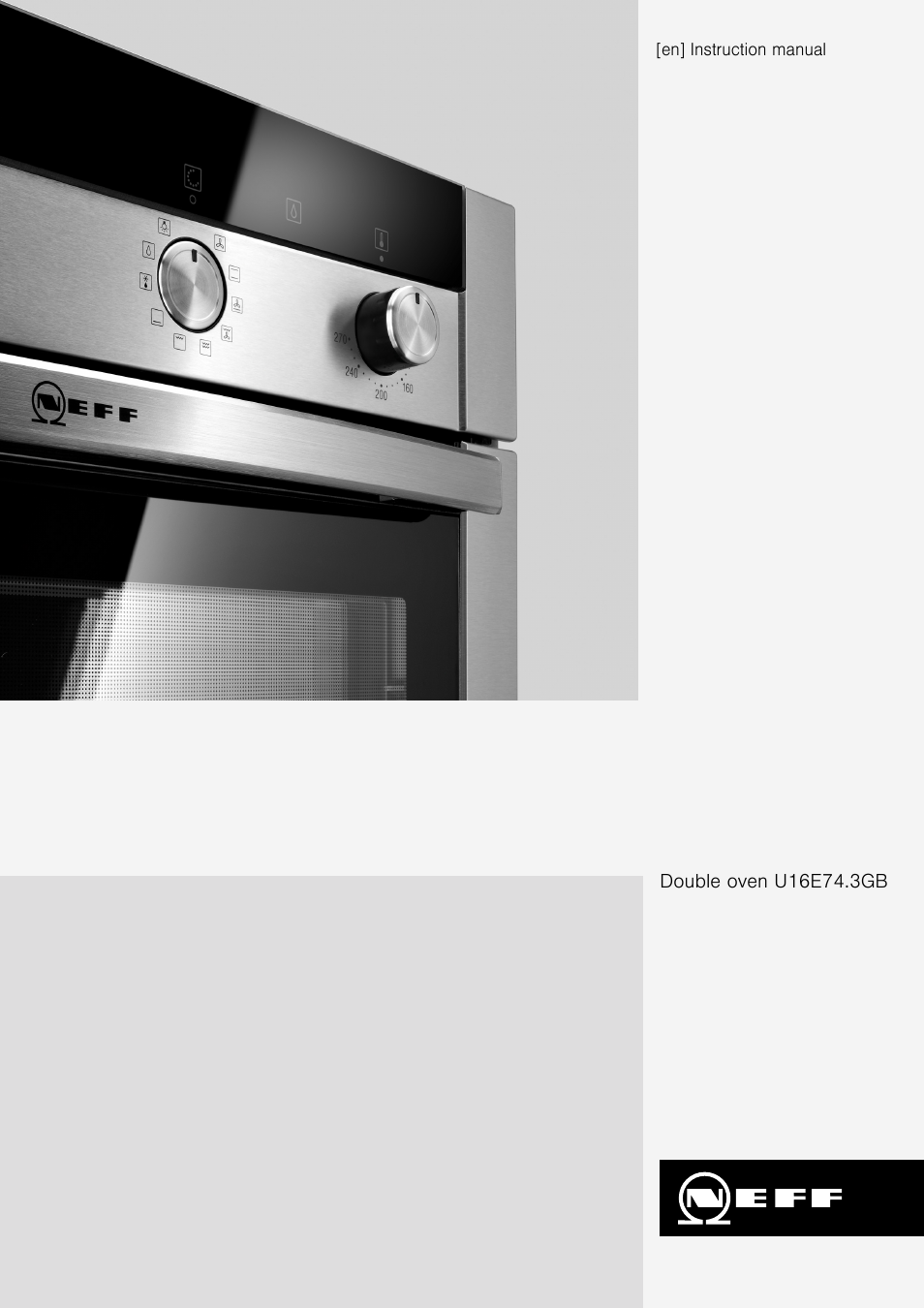 Neff U16e74n3gb User Manual 36 Pages Double Oven Wiring Instructions